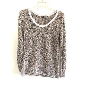 Free People speckled scoop neck pullover